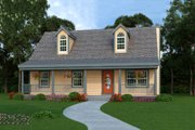 Country Style House Plan - 3 Beds 2 Baths 1040 Sq/Ft Plan #456-31 Exterior - Front Elevation