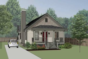 Cottage Exterior - Front Elevation Plan #79-134