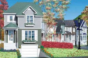 Victorian Exterior - Front Elevation Plan #25-4228