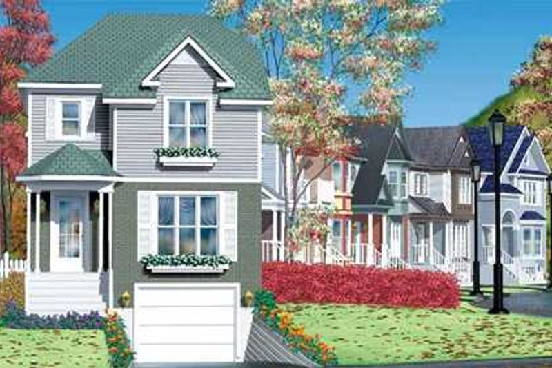Victorian Style House Plan - 3 Beds 1.5 Baths 1747 Sq/Ft Plan #25-4228 Exterior - Front Elevation