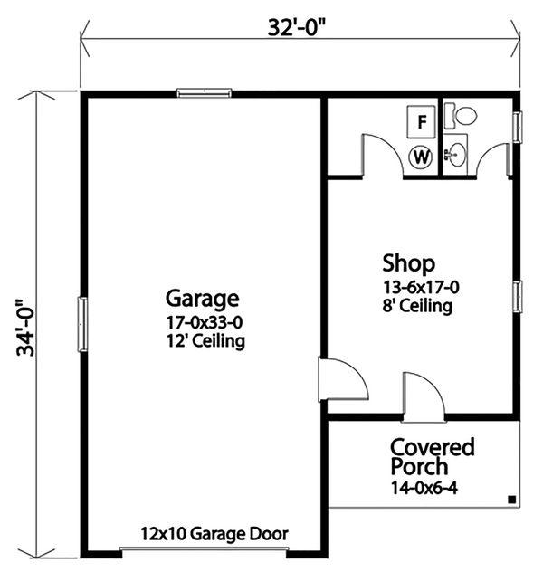 Country Floor Plan - Main Floor Plan Plan #22-578