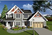 Craftsman Exterior - Front Elevation Plan #70-1272