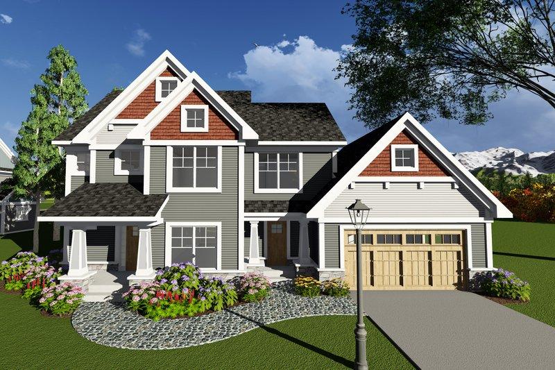 Home Plan - Craftsman Exterior - Front Elevation Plan #70-1272