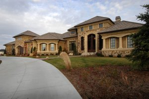 Front View - - 9400 square foot European home