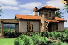 Dream House Plan - Mediterranean Exterior - Front Elevation Plan #48-284