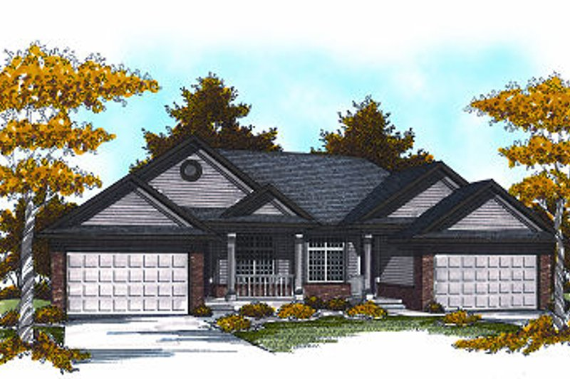 Traditional Exterior - Front Elevation Plan #70-892