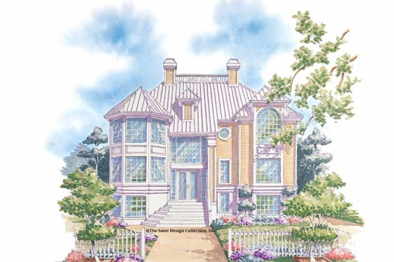 Mediterranean Exterior - Front Elevation Plan #930-75 - Houseplans.com