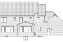 Colonial Exterior - Rear Elevation Plan #1010-165