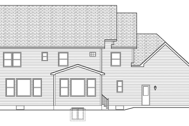 Colonial Exterior - Rear Elevation Plan #1010-165 - Houseplans.com