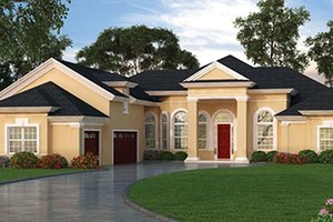 House Plan Design - European Exterior - Front Elevation Plan #417-808