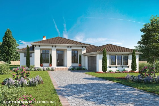 Dream House Plan - Contemporary Exterior - Front Elevation Plan #930-500