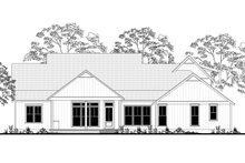 Farmhouse Exterior - Rear Elevation Plan #430-165