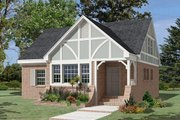 Cottage Style House Plan - 3 Beds 2 Baths 1674 Sq/Ft Plan #57-254 Exterior - Front Elevation