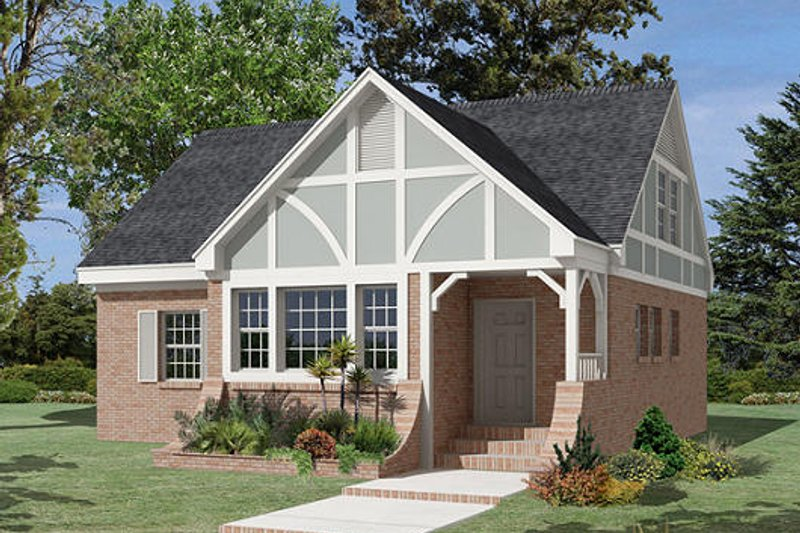 Cottage Style House Plan - 3 Beds 2 Baths 1674 Sq/Ft Plan #57-254
