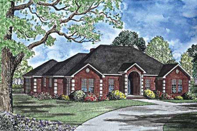 Dream House Plan - European Exterior - Front Elevation Plan #17-3018