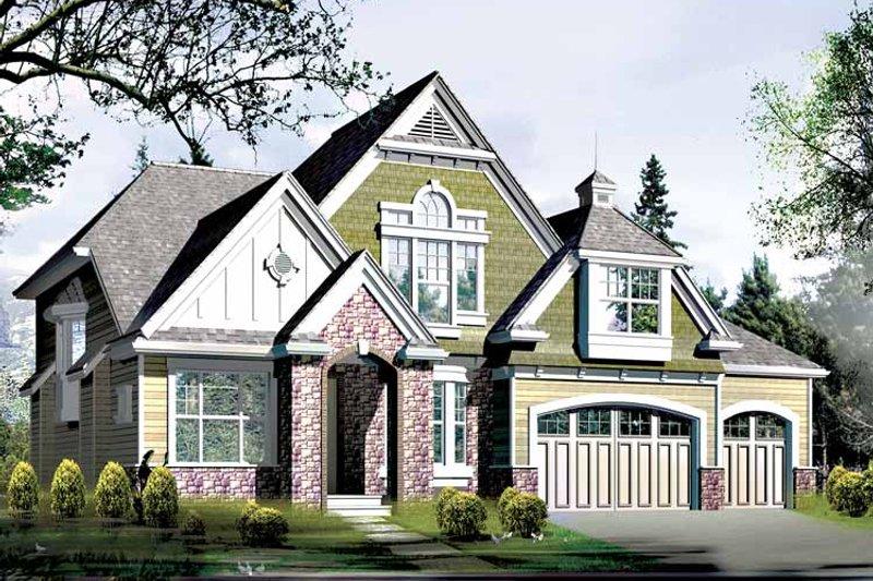 Craftsman Exterior - Front Elevation Plan #132-367 - Houseplans.com