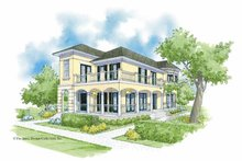 Southern Exterior - Front Elevation Plan #930-360