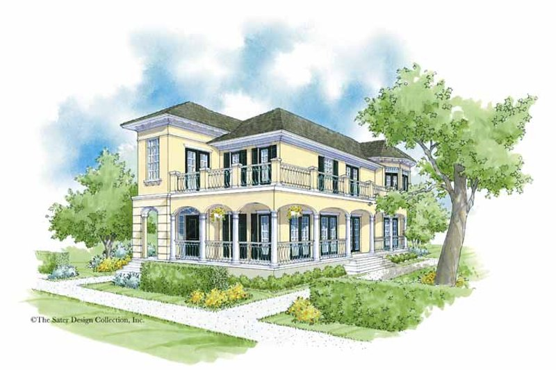 Architectural House Design - Southern Exterior - Front Elevation Plan #930-360