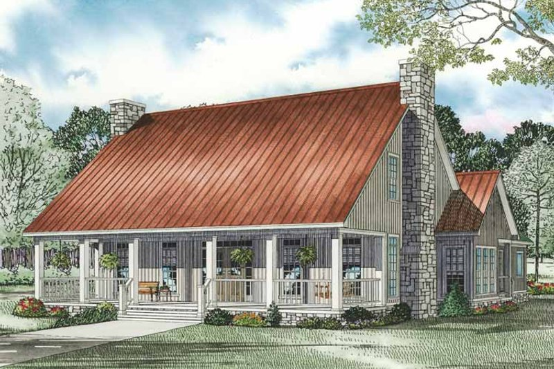 Dream House Plan - Country Exterior - Front Elevation Plan #17-3343