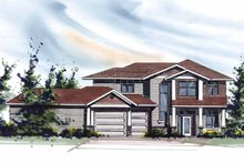 Craftsman Exterior - Front Elevation Plan #509-410