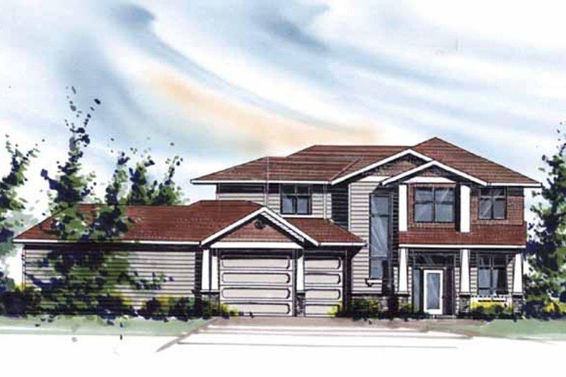 Craftsman Exterior - Front Elevation Plan #509-410