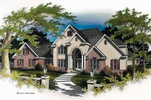 House Plan Design - Mediterranean Exterior - Front Elevation Plan #952-74