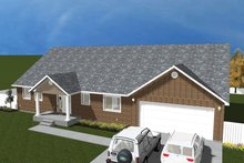 House Plan Design - Traditional Exterior - Front Elevation Plan #1060-20