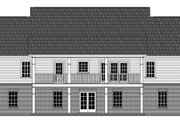 Colonial Style House Plan - 3 Beds 2.5 Baths 1951 Sq/Ft Plan #21-431 Exterior - Rear Elevation