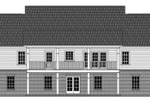 Colonial Exterior - Rear Elevation Plan #21-431
