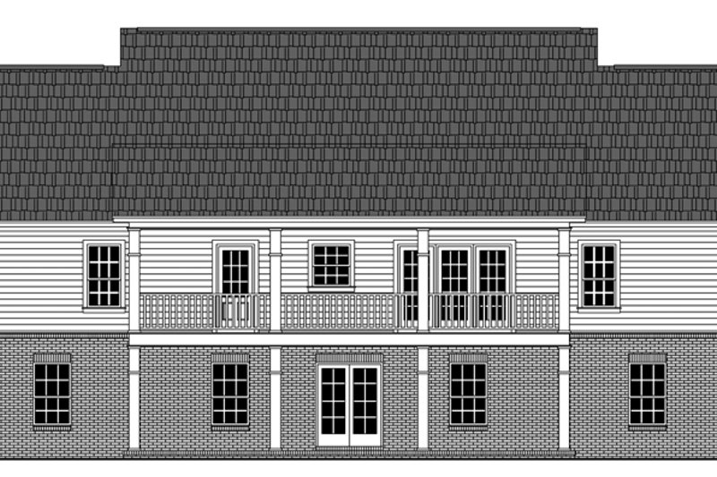 Colonial Exterior - Rear Elevation Plan #21-431 - Houseplans.com