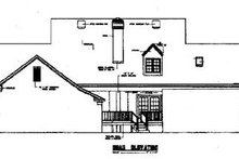 Home Plan Design - Southern Exterior - Rear Elevation Plan #45-159