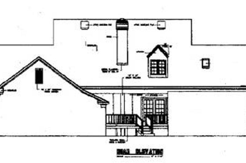 Southern Exterior - Rear Elevation Plan #45-159 - Houseplans.com