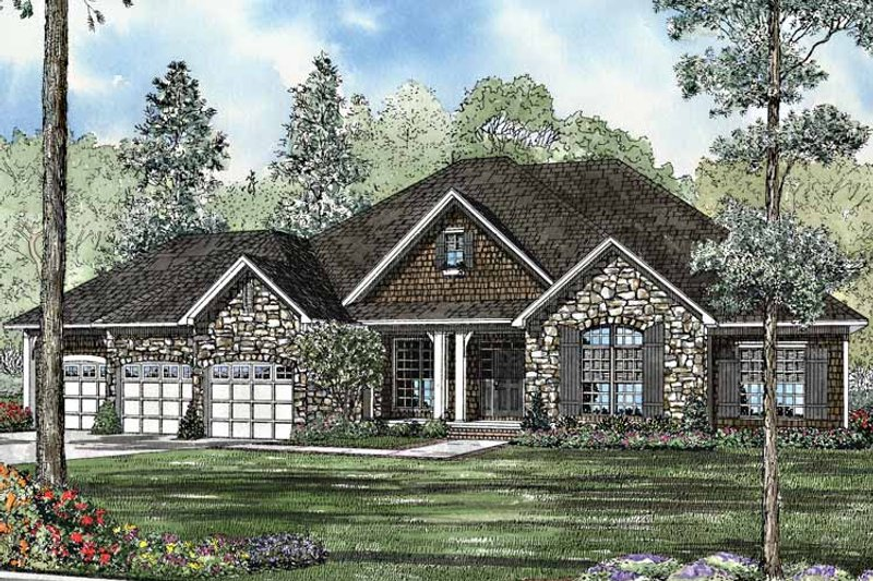 Country Exterior - Front Elevation Plan #17-3136 - Houseplans.com