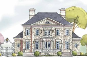 Dream House Plan - Country Exterior - Front Elevation Plan #429-329
