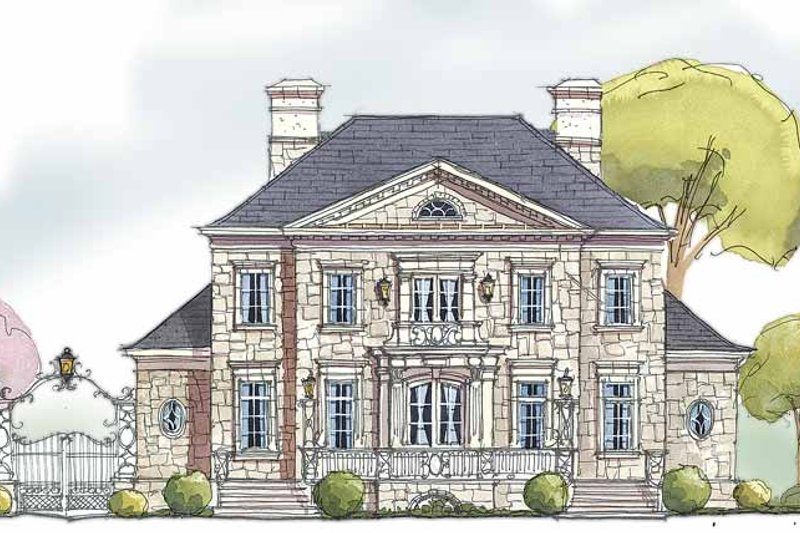 House Plan Design - Country Exterior - Front Elevation Plan #429-329