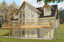 House Plan Design - Mediterranean Exterior - Rear Elevation Plan #117-813