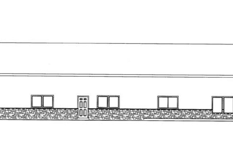 Contemporary Exterior - Rear Elevation Plan #117-855 - Houseplans.com