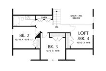 Craftsman Floor Plan - Upper Floor Plan Plan #48-900