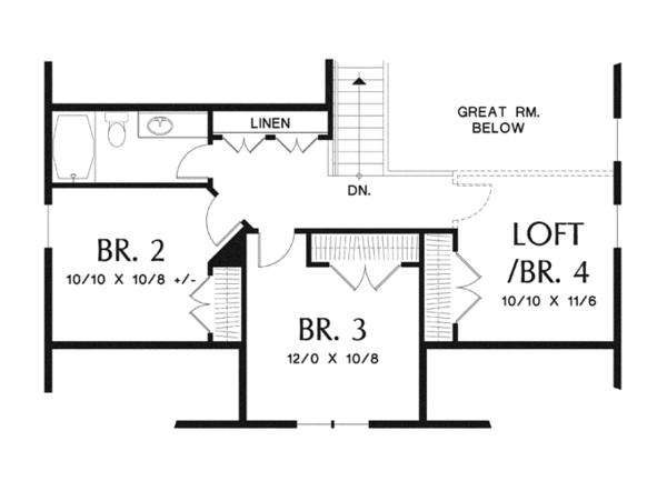 Dream House Plan - Craftsman Floor Plan - Upper Floor Plan #48-900