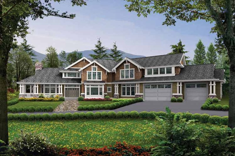Craftsman Exterior - Front Elevation Plan #132-346 - Houseplans.com