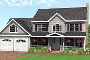 Farmhouse Style House Plan - 3 Beds 2.5 Baths 1935 Sq/Ft Plan #75-161 Exterior - Front Elevation
