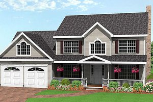 Farmhouse Exterior - Front Elevation Plan #75-161
