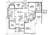 Traditional Style House Plan - 7 Beds 4.5 Baths 3280 Sq/Ft Plan #5-458 Floor Plan - Main Floor Plan