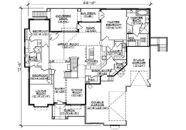 Traditional Floor Plan - Main Floor Plan Plan #5-458
