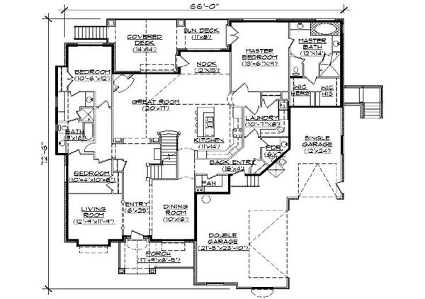 Dream House Plan - Traditional Floor Plan - Main Floor Plan #5-458
