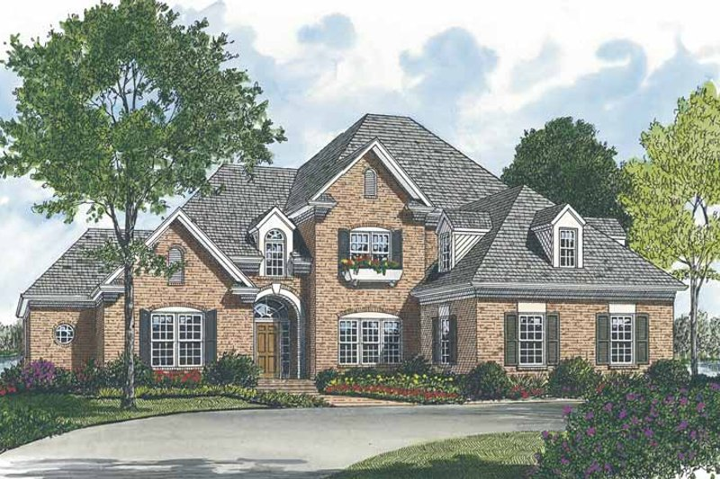 Dream House Plan - Traditional Exterior - Front Elevation Plan #453-526