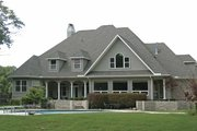 Country Style House Plan - 5 Beds 3.5 Baths 5003 Sq/Ft Plan #11-275 Exterior - Rear Elevation