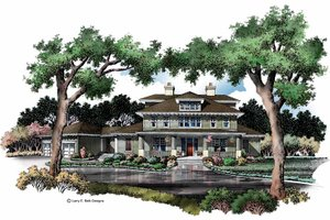 Craftsman Exterior - Front Elevation Plan #952-269