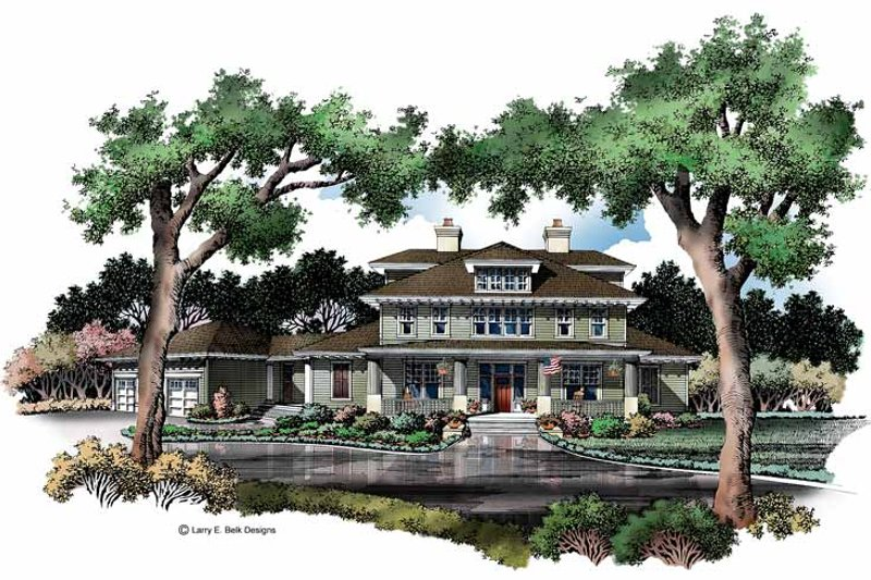 Architectural House Design - Craftsman Exterior - Front Elevation Plan #952-269