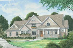 Dream House Plan - Traditional Exterior - Front Elevation Plan #413-886